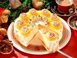 Orangen-Zimt-Sahnetorte Rezept