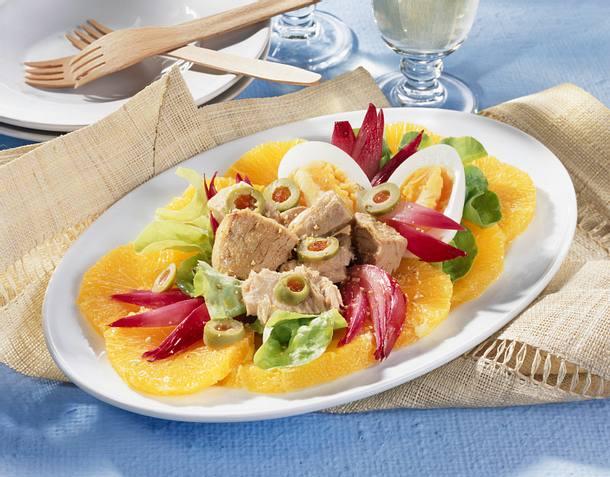 Orangensalat mit Thunfisch Rezept