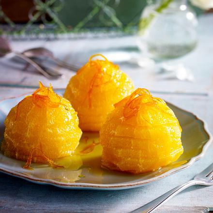 Orangenscheiben in Karamellsirup Rezept
