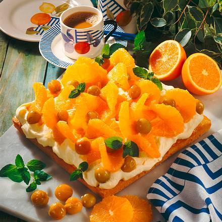 orangentorte mit vanille mascarpone creme rezept lecker. Black Bedroom Furniture Sets. Home Design Ideas