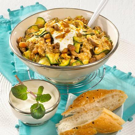 Orientalische Zucchini-Hackpfanne Rezept