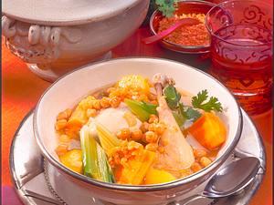 Orientalischer Kichererbsen-Linsen-Eintopf Rezept