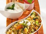 Orientalischer Reis mit Minz-Joghurt Rezept