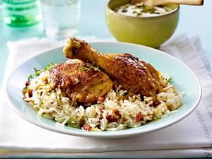 Orientalisches Huhn mit Fadennudel-Reis Rezept