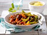 Orientalisches Lammgulasch mit grünen Bohnen Rezept