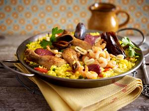 Paella auf valencianische Art Rezept