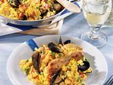Paella mit Huhn Rezept