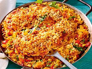Paella-Schnitzel Rezept
