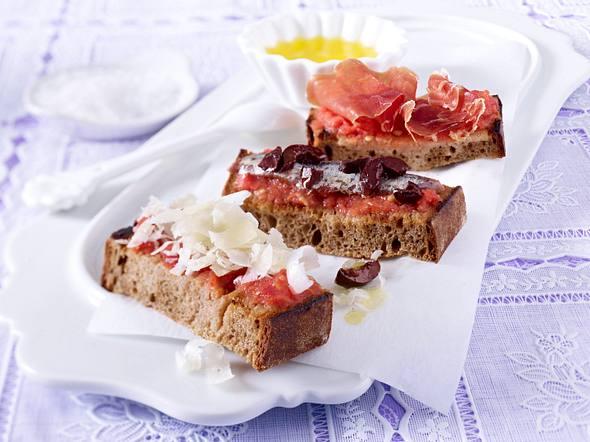 Pan con Tomate (Brot mit Tomatenpaste) Rezept