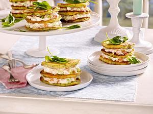 Pancake-Türmchen mit Lachs Rezept