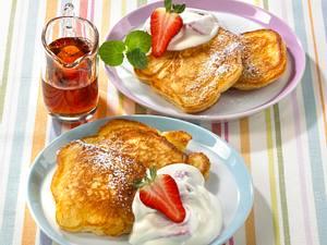 Pancakes mit Erdbeerquark Rezept