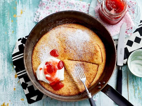 Pannukakku - Ofenpfannkuchen Rezept