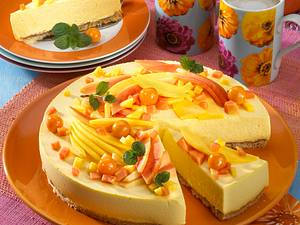 Papaya-Mango-Torte Rezept