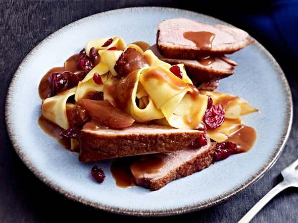 Pappardelle mit Entenbrust in Cranberrysoße Rezept