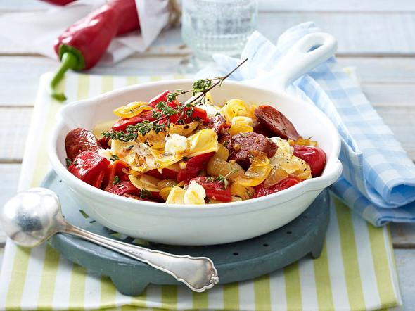 Paprika-Fleckerln mit Chorizo Rezept