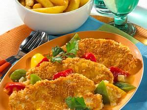 Paprika-Putenschnitzel mit Chips-Panade Rezept