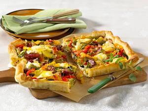 Paprika-Quiche mit Cabanossi Rezept