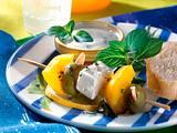 Paprika-Schafskäse-Spieße Rezept