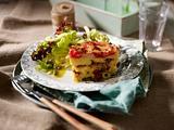 Parmesan-Polenta-Lasagne mit Oliven und Tomaten Rezept