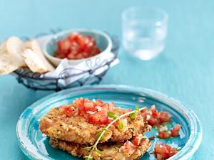 Parmesan-Schnitzel mit Tomatensalsa Rezept
