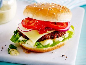 Party-Cheeseburger mit selbstgemachter Soße Rezept