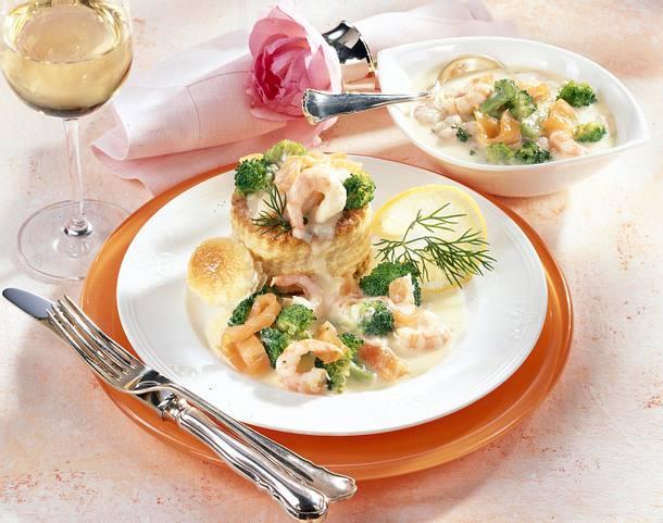 Pastetchen mit Shrimps und Räucherlachs Rezept