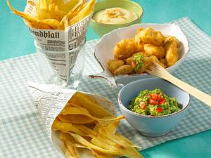 Pastinaken-Chips mit Guacamole und Aioli Rezept