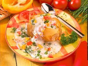 Pellkartoffel mit Gemüse-Remoulade Rezept