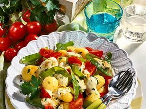 Pellkartoffel-Salat mit Currycreme Rezept