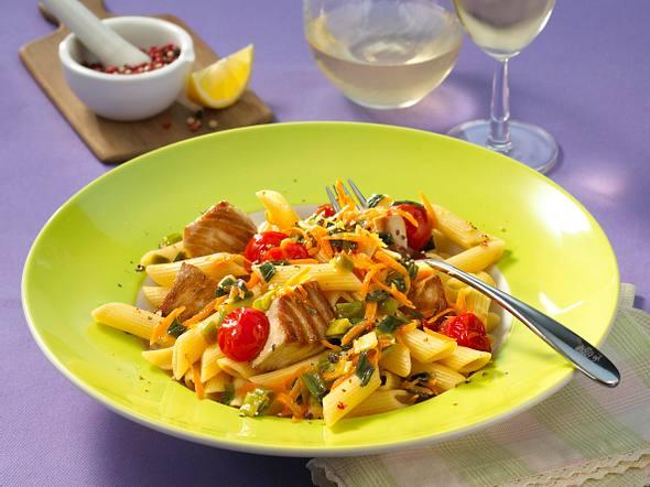 Penne mit Thunfisch und Gemüse Rezept
