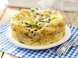 Penne-Torte mit Spinat und Käse Rezept