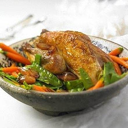 Perlhuhn mit Marsala-Möhrchen Rezept