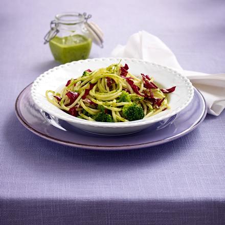 Pesto-Gemüse-Nudeln (Trennkost - Kohlenhydrate) Rezept