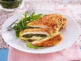 Pesto-Hähnchenfilets in Haferflocken-Panade Rezept