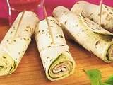Pesto Wraps mit Schinken Rezept