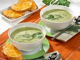 Petersilien-Creme-Suppe mit Käse-Baguette Rezept
