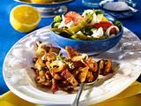 Pfannen-Gyros mit Bauernsalat Rezept