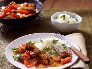 Pfannen-Schaschlik mit Petersilien-Butter-Reis Rezept