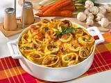 Pfannkuchen-Auflauf mit Gemüse-Putenbrust-Füllung Rezept