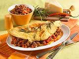 Pfannkuchen mit Hacksoße und Parmesan Rezept