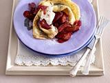 Pfannkuchen mit Pflaumenkompott Rezept