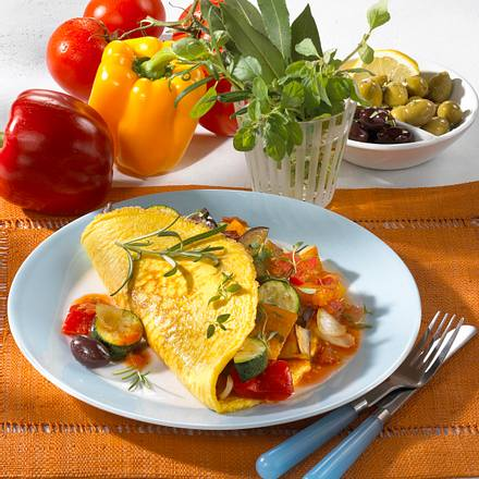 Pfannkuchen mit Ratatouille (Diabetiker) Rezept
