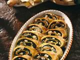 Pfannkuchen-Rollen mit Spinat Rezept