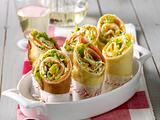 Pfannkuchen-Wraps mit Frischkäse-Lachs-Füllung Rezept
