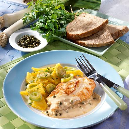 Pfeffer-Schnitzel zu Steckrüben (Diabetiker) Rezept