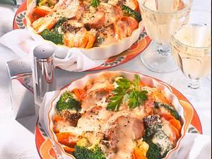 Pfefferfilet-Pfännchen mit Gemüse Rezept