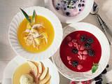 Pfirsich-Ananas-Kaltschale mit Kokos Rezept