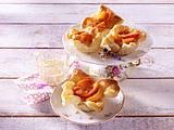 Pfirsich-Blätterteig-Küchlein Rezept