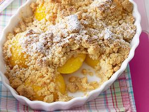 Pfirsich-Crumble mit Zimtstreuseln Rezept