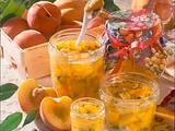 Pfirsich-Konfitüre mit Pistazien (Diabetiker) Rezept